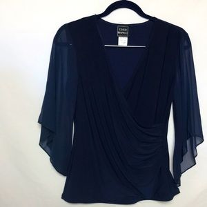 Coco Bianco Navy Blue Top Size Small